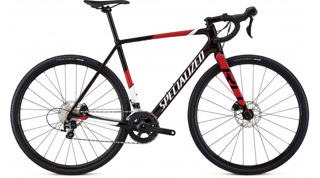 """Specialized Crux Sport 28"""" cyclocrosser fiets Gr. 54cm red tint/metallic white silver/flo red model 2019"""