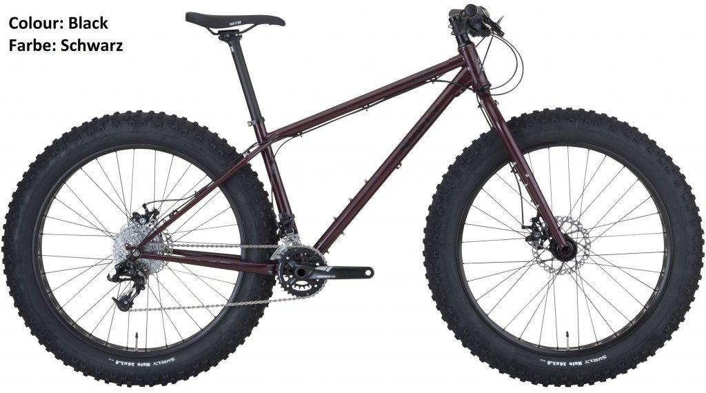 Surly Wednesday 26\'\' Fatbike bici completa trevor\'s closet negro Mod ...