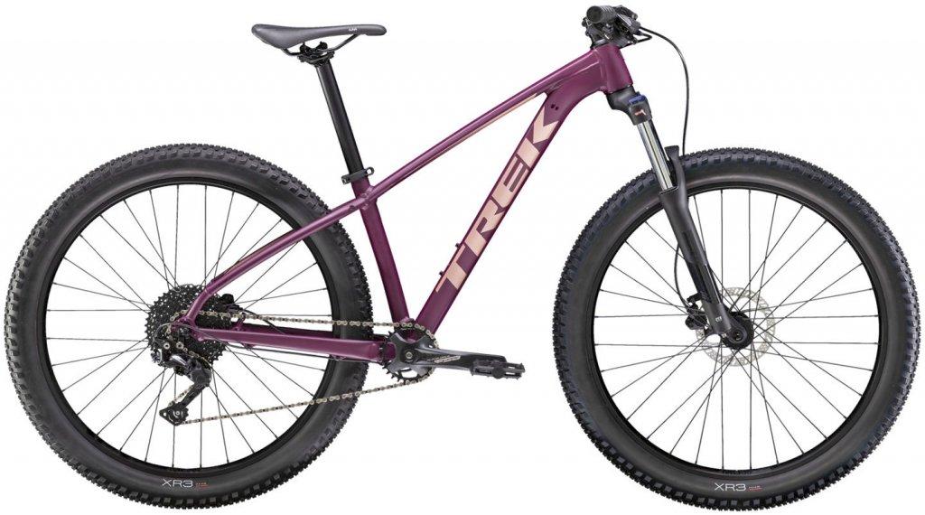 """Trek Roscoe 6 27.5""""/650B MTB(山地) 整车 女士 型号 XS matte mulberry/gloss rose 金色 款型 2020"""