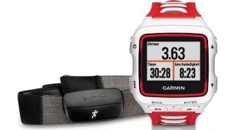 Garmin Forerunner 920XT rueda trasera GPS-Multisportuhr (incl. Premium Herzfrequenzbrustgurt) blanco(-a)/rojo(-a)