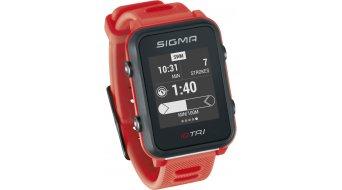 Sigma Sport iD.TRI GPS 铁人三项-Uhr Set neon red