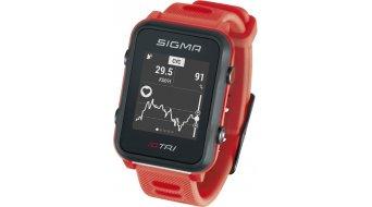 Sigma Sport iD.TRI GPS 铁人三项-Uhr Basic neon red