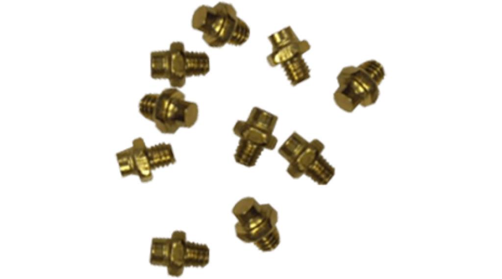Azonic Alloy Pins Ersatzpins (10 Stück) gold