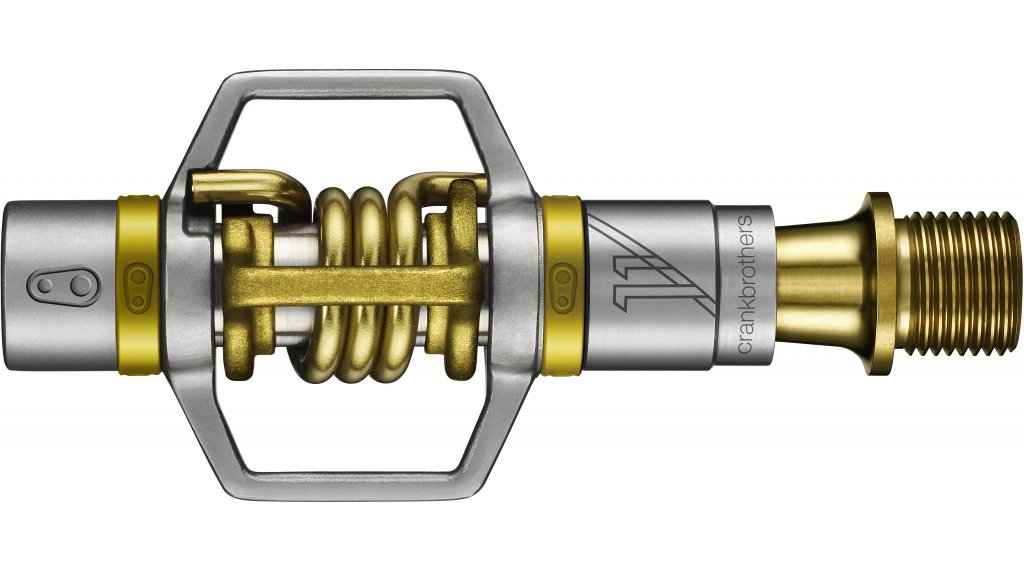 CrankBrothers Eggbeater 11 Klick-Pedale titan/gold