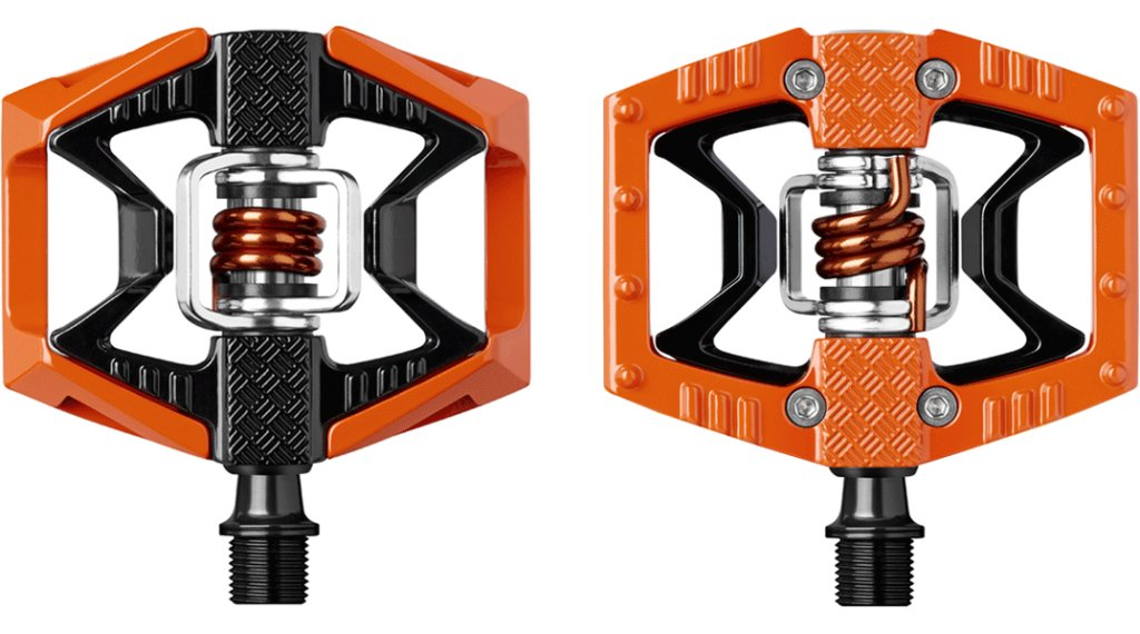 CrankBrothers Double Shot 2 Plattform-/clipless pedals orange/black/orange