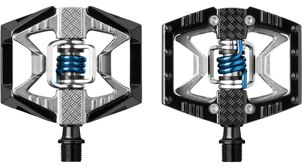 CrankBrothers Double Shot 2 Plattform-/clipless pedals black/raw/blue