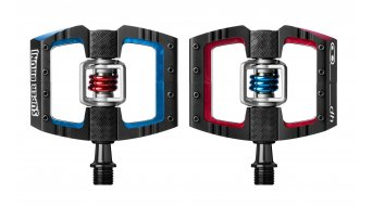 Crank Brothers Mallet DH Klick- pedaal(pedalen) Super Bruni Edition black/red/blue model 2018