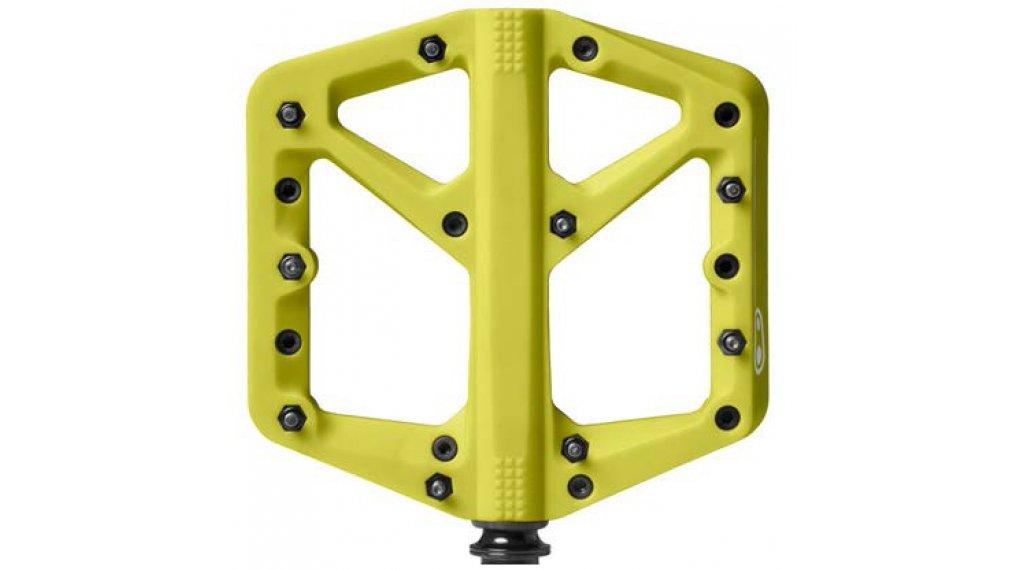 CrankBrothers Stamp 1 Plattform-Pedale Flatpedal Splash Edition Gr. Large citron