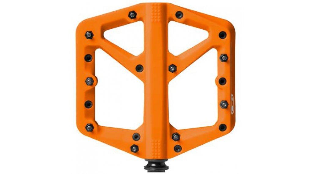 CrankBrothers Stamp 1 Plattform-Pedale Flatpedal Splash Edition Gr. Large orange