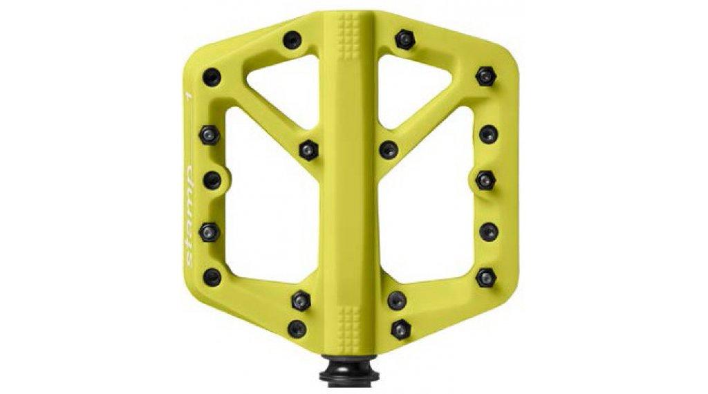 CrankBrothers Stamp 1 Plattform-Pedale Flatpedal Splash Edition Gr. Small citron