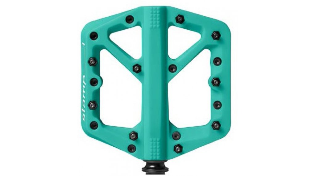 CrankBrothers Stamp 1 Plattform-Pedale Flatpedal Splash Edition Gr. Small turquoise