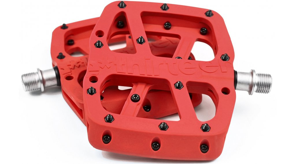 e*thirteen Base Flat MTB Plattform-pedals red