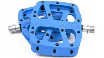 e*thirteen Base Flat MTB Plattform-pedals blue