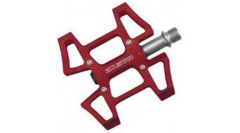 Exustar E-PC915 Urban-Pedale Cro-MO-Achse rot