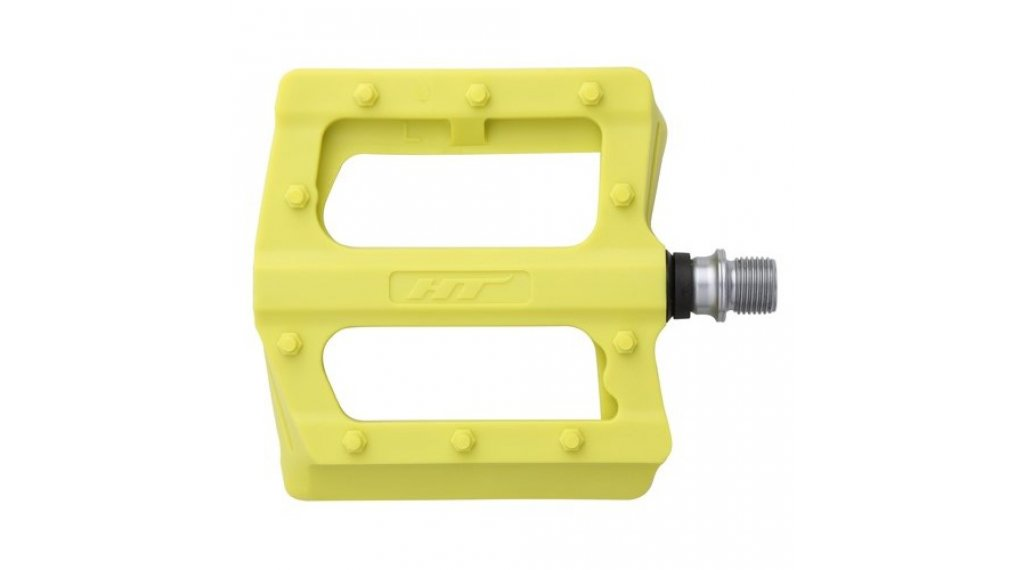 HT Components PA 12 Plattform-Pedale yellow green