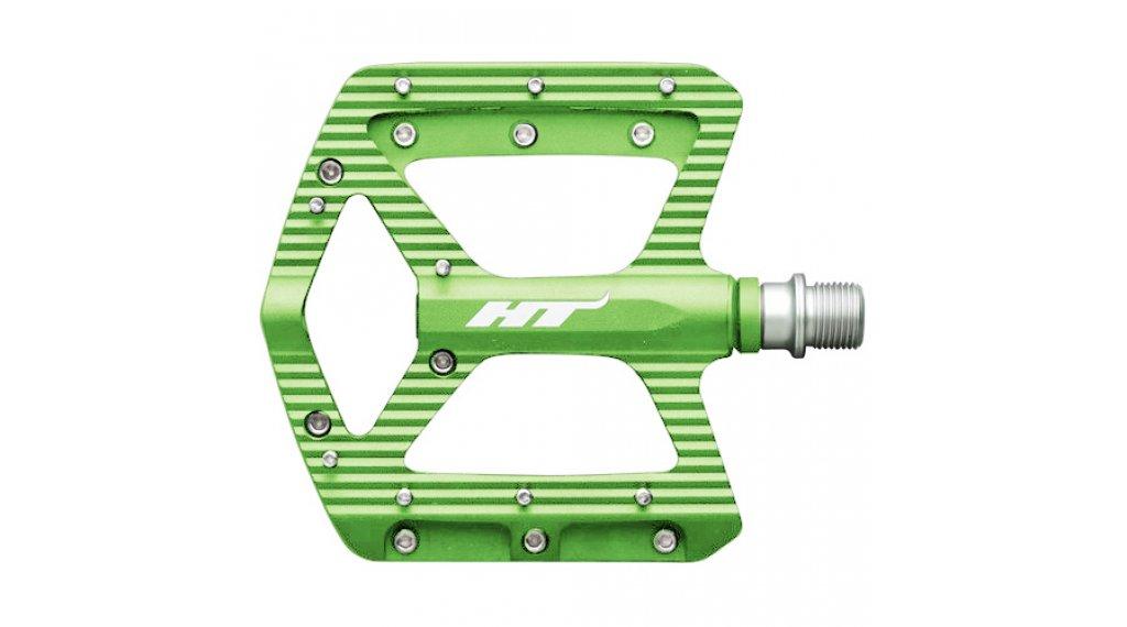 HT Components ANS 06 Cromo Plattform-Pedale apple-lime green