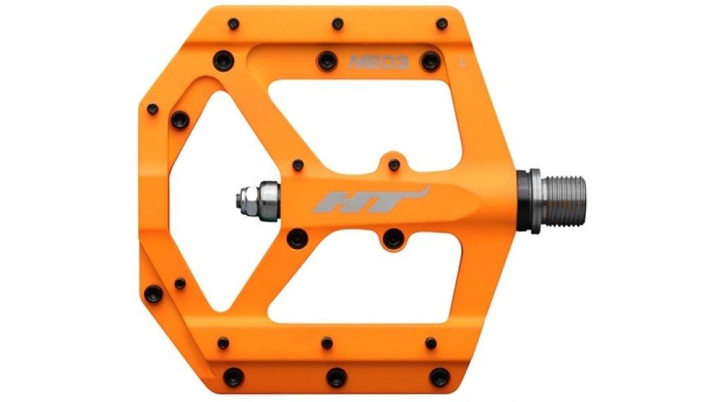 HT Components ME 03 Cromo Plattform-Pedale neon orange