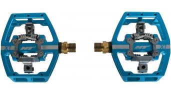 HT DH-Race X1T Titan pedales azul (sin Pins)- MODELO DE DEMONSTRACIÓN einmal verbaut und gefahren, daher leichte Gebrauchsspuren