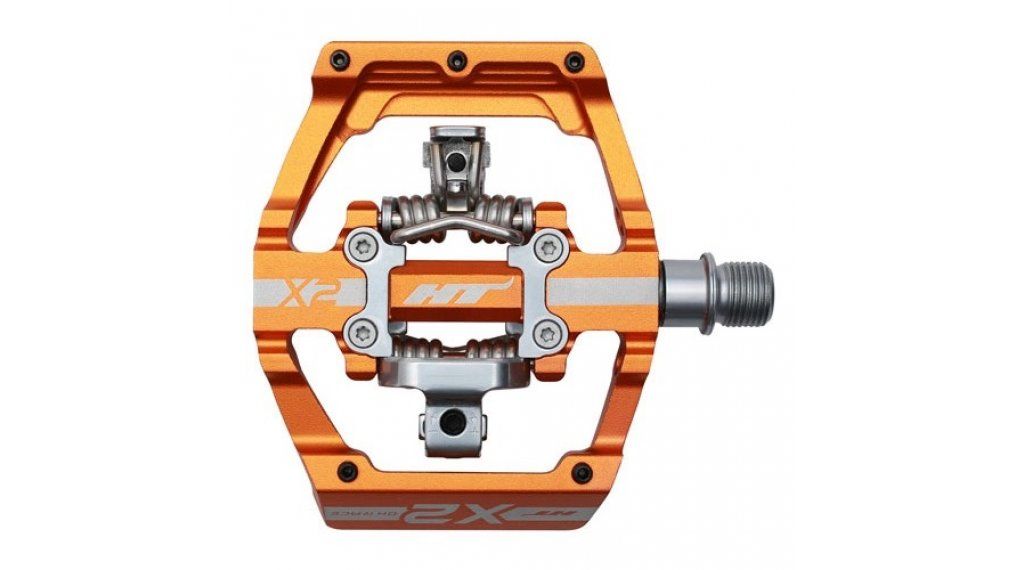 HT Components DH X2 Click-Pedale dark orange