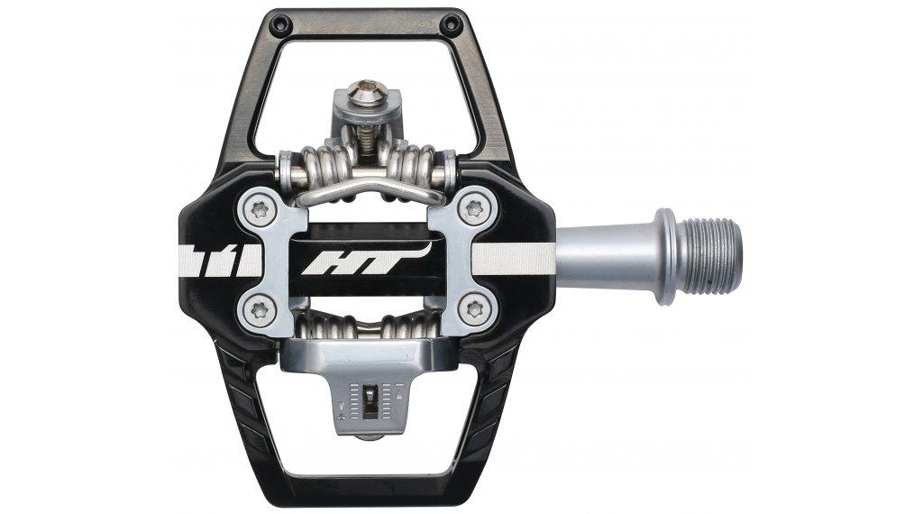 HT Components DH T1 Click-Pedale black