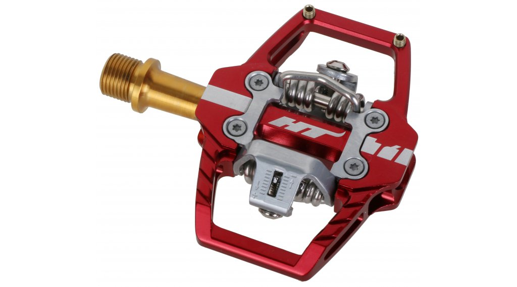HT Components DH T1 Titan Click-Pedale red