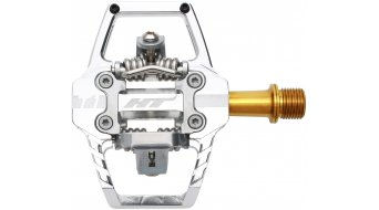 HT Components DH T1 Titan Click-Pedale silver