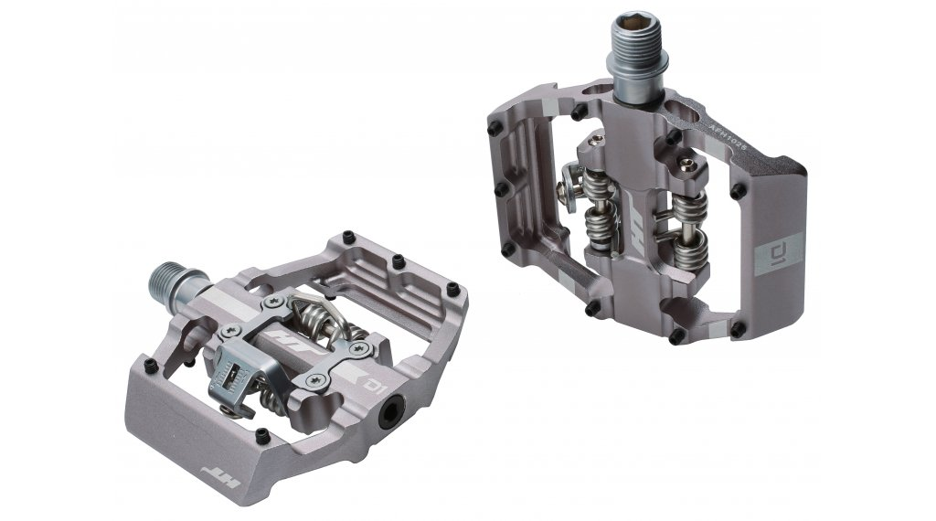 HT Components Dual Click-Pedale grey