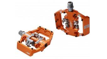 HT Components Dual Click-Pedale orange