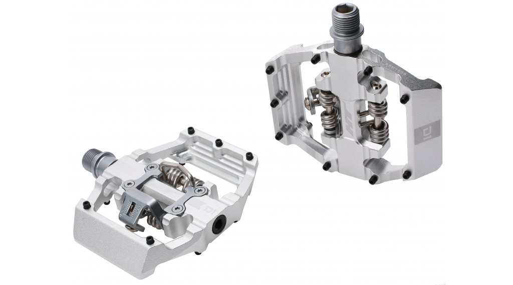 HT Components Dual Click-Pedale silver