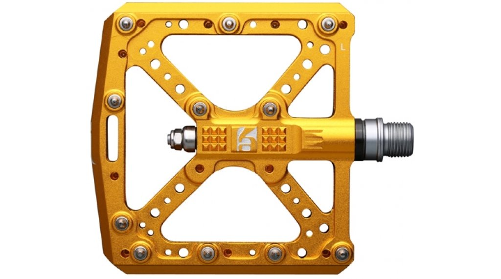 HT Components KA 01 Cromo Plattform-Pedale gold
