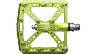 HT Components KA 01 Cromo Plattform-Pedale apple-lime green