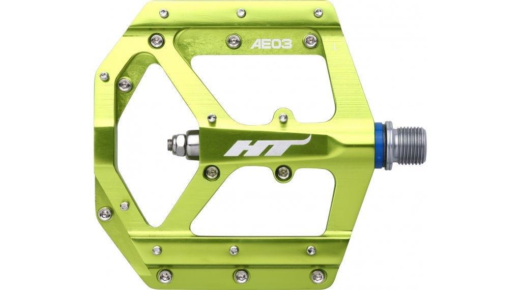 HT Components AE 03 Cromo Plattform-Pedale apple-lime green