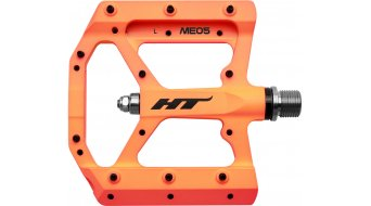 HT Components ME 05 Cromo Plattform-Pedale orange