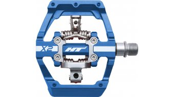 HT Components DH X2 Click-Pedale royal blue
