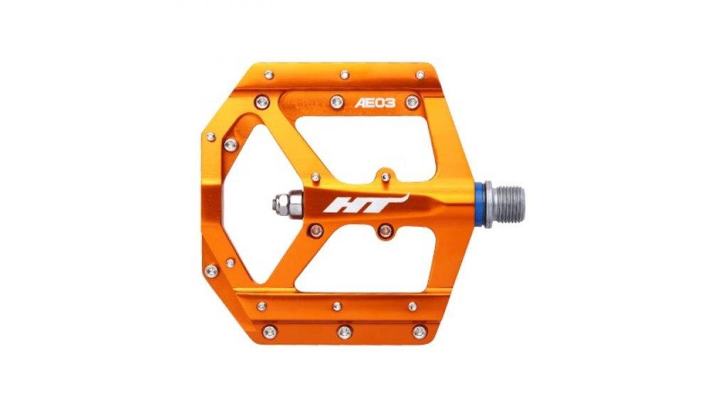 HT Components AE 03 Cromo Plattform-Pedale orange