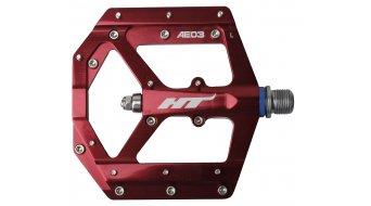 HT Components AE 03 Cromo Plattform-Pedale red