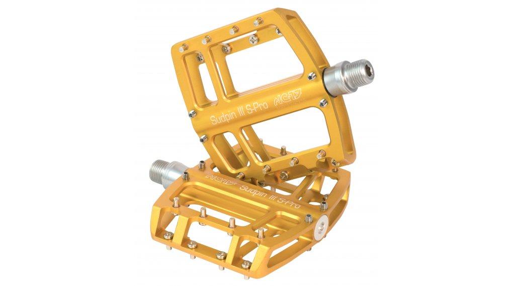 NC-17 Sudpin III S-Pro CNC plataforma-pedal rodamiento de precisión dorado(-a)