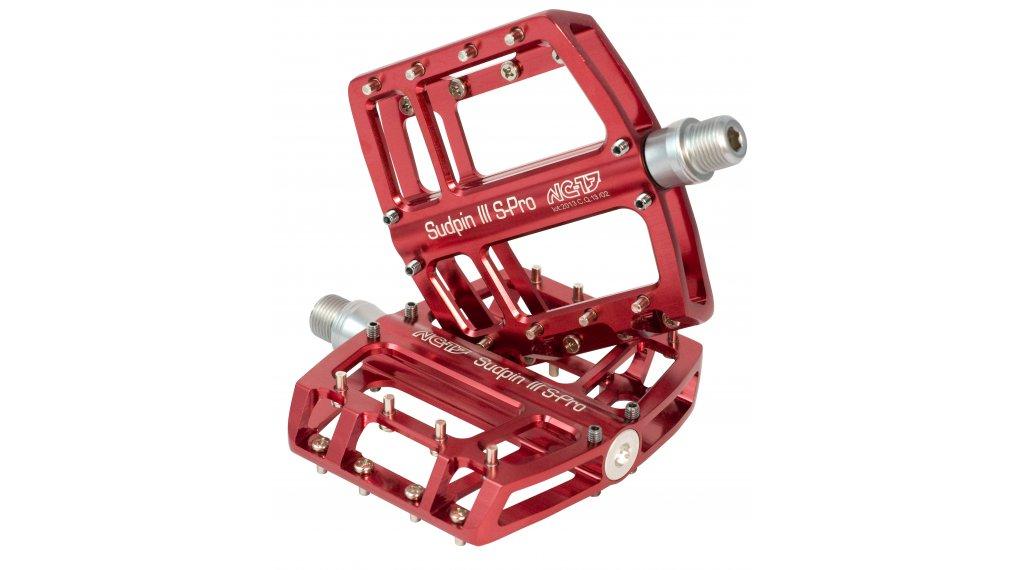 NC-17 Sudpin III S-Pro CNC plataforma-pedal rodamiento de precisión rojo(-a)