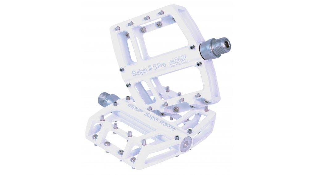 NC-17 Sudpin III S-Pro CNC plataforma-pedal rodamiento de precisión blanco(-a)