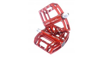 NC-17 Sudpin II Pro CNC-plataforma pedal rojo(-a), rodamiento cónico
