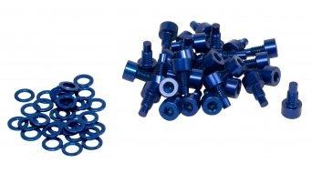 NC-17 Ersatzpins CNC AL-7075 M4x8mm 32Stück blau
