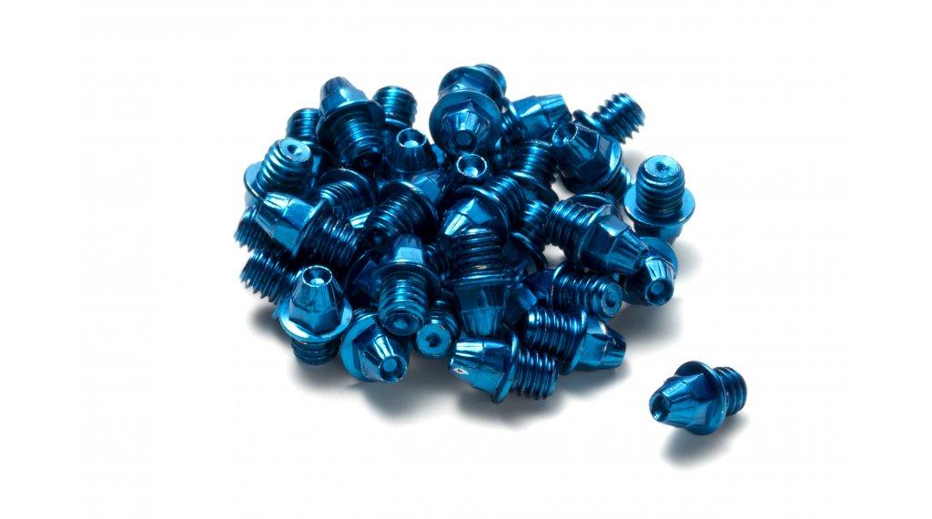 Reverse acciaio pins di ricambio M4x4mm (24pz.) blu