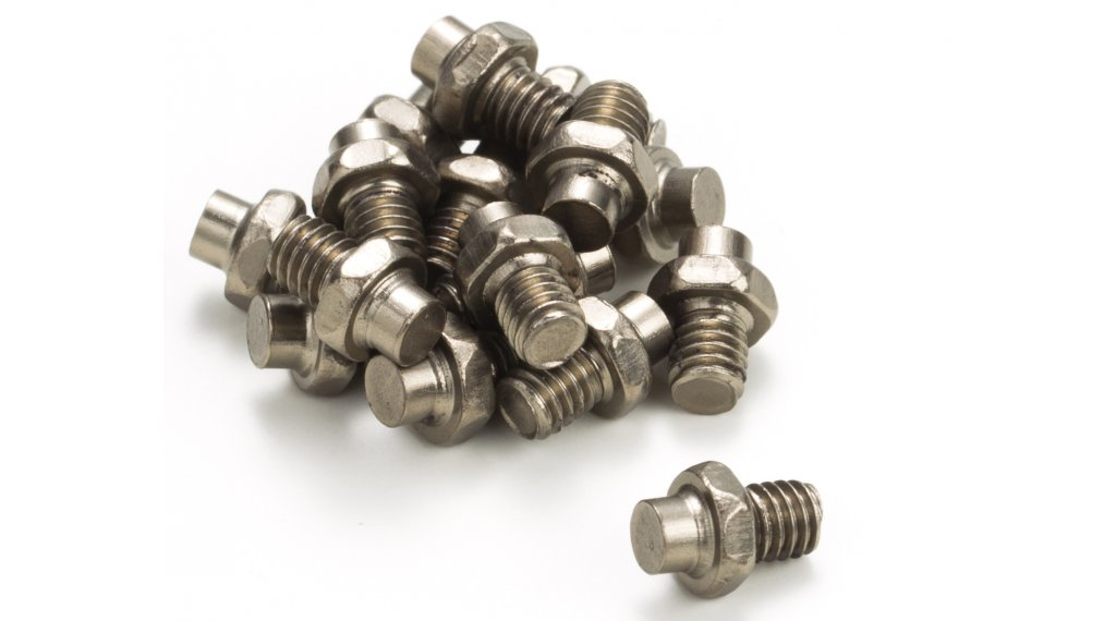 Reverse replacement pins for Escape pedals (16 pcs.) titanium color