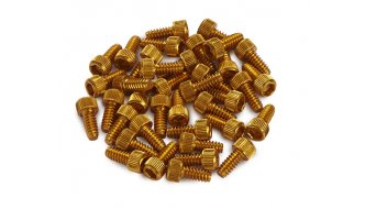 Reverse aluminium replacement pins gold
