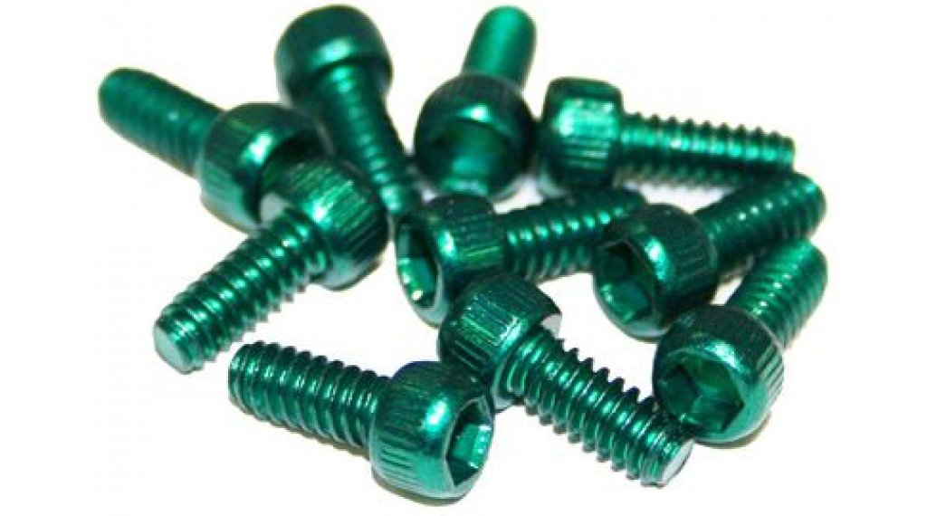 Reverse 钢 替换pins US Size Pins 11mm 适用于 BlackOne 和 Escape PRO-脚踏 (10个) green