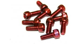 Reverse 钢 替换pins US Size Pins 11mm 适用于 BlackOne 和 Escape PRO-脚踏 (10个) red