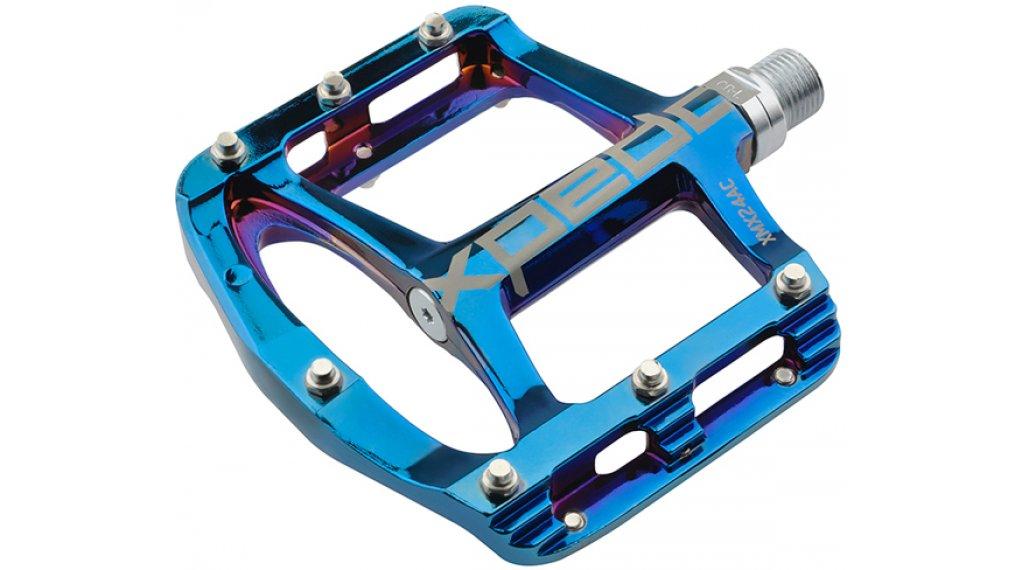 Xpedo Spry+ MTB Plattform-Pedale Blue Ray