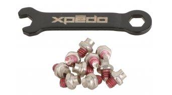 Xpedo Spry+ MTB Plattform-Pedale Gold Slick