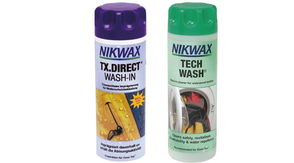 Nikwax 双瓶套装 Tech Wash 清洗剂 和 TX.Direct Wash-in 涂层护理