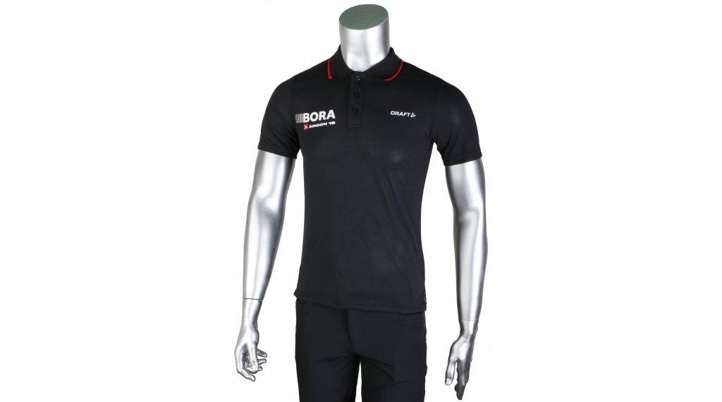 Craft Bora Argon 18 ITZ Pique Polo manica corta da uomo-Poloshirt mis. XS nero